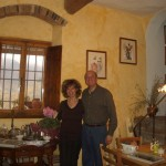 Franco e Gabriella in sala pranzo